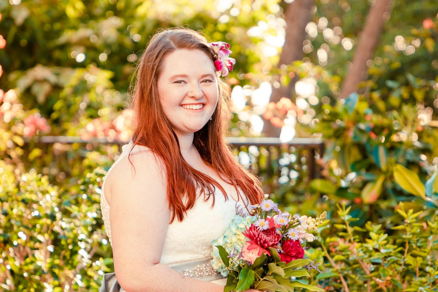 brides garden wedding portrait oahu hawaii