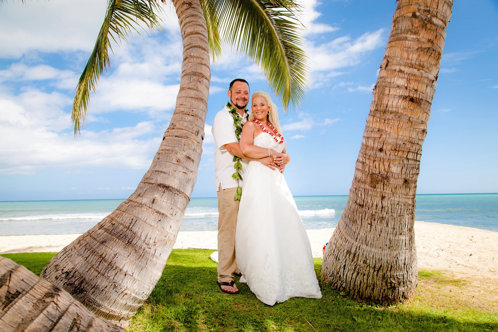 ewa beach oahu destination beach wedding elopement bride groom portrait