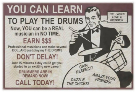 Advert courtesy of veteran South African drummer and old friend I haven't seen for years Brian Abrahams who posted it on FaceBook