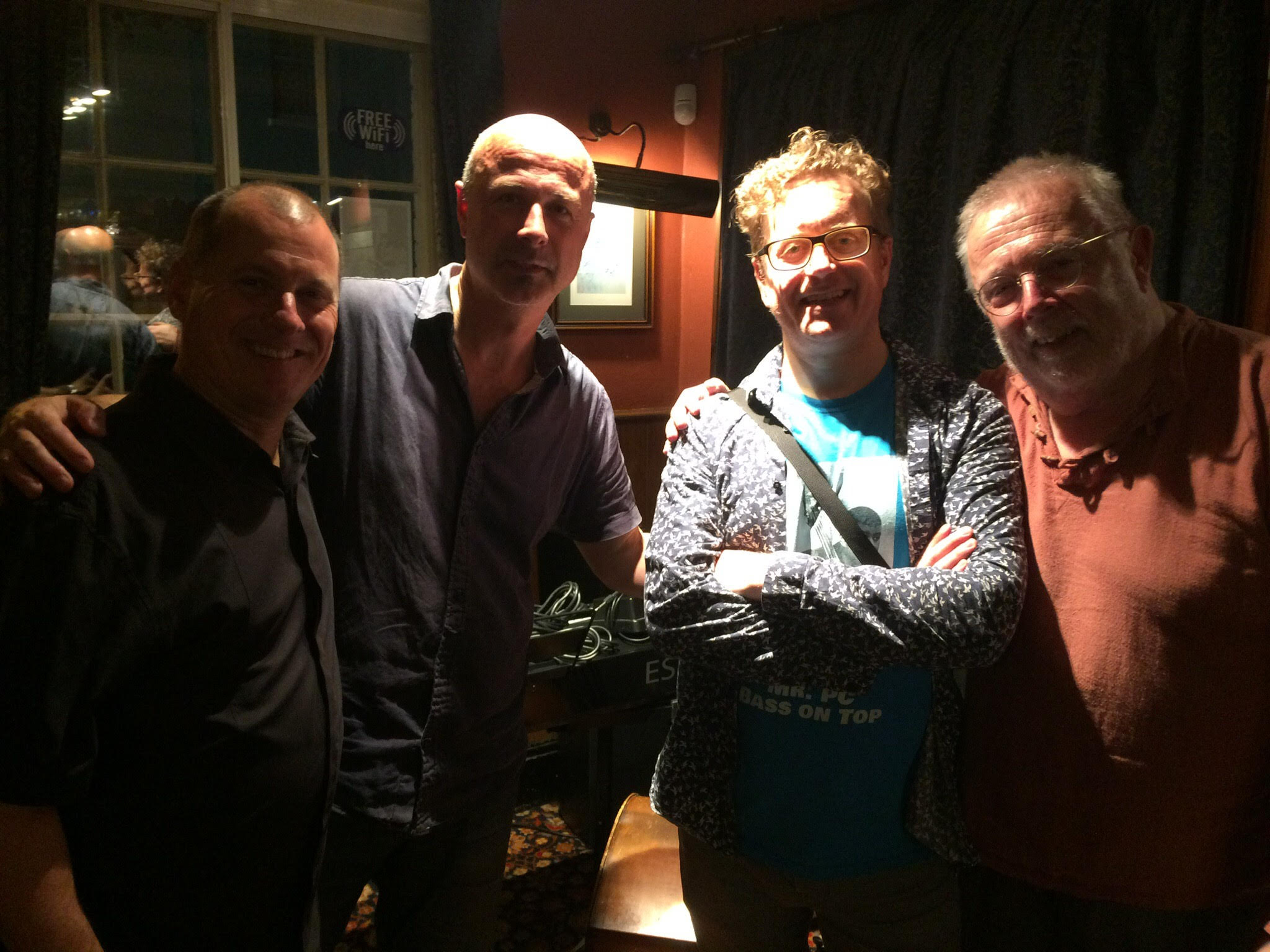 Last week at the H&H - with Andy Urquart (tpt) Simon Robinson (p) and George Trebar (bs)