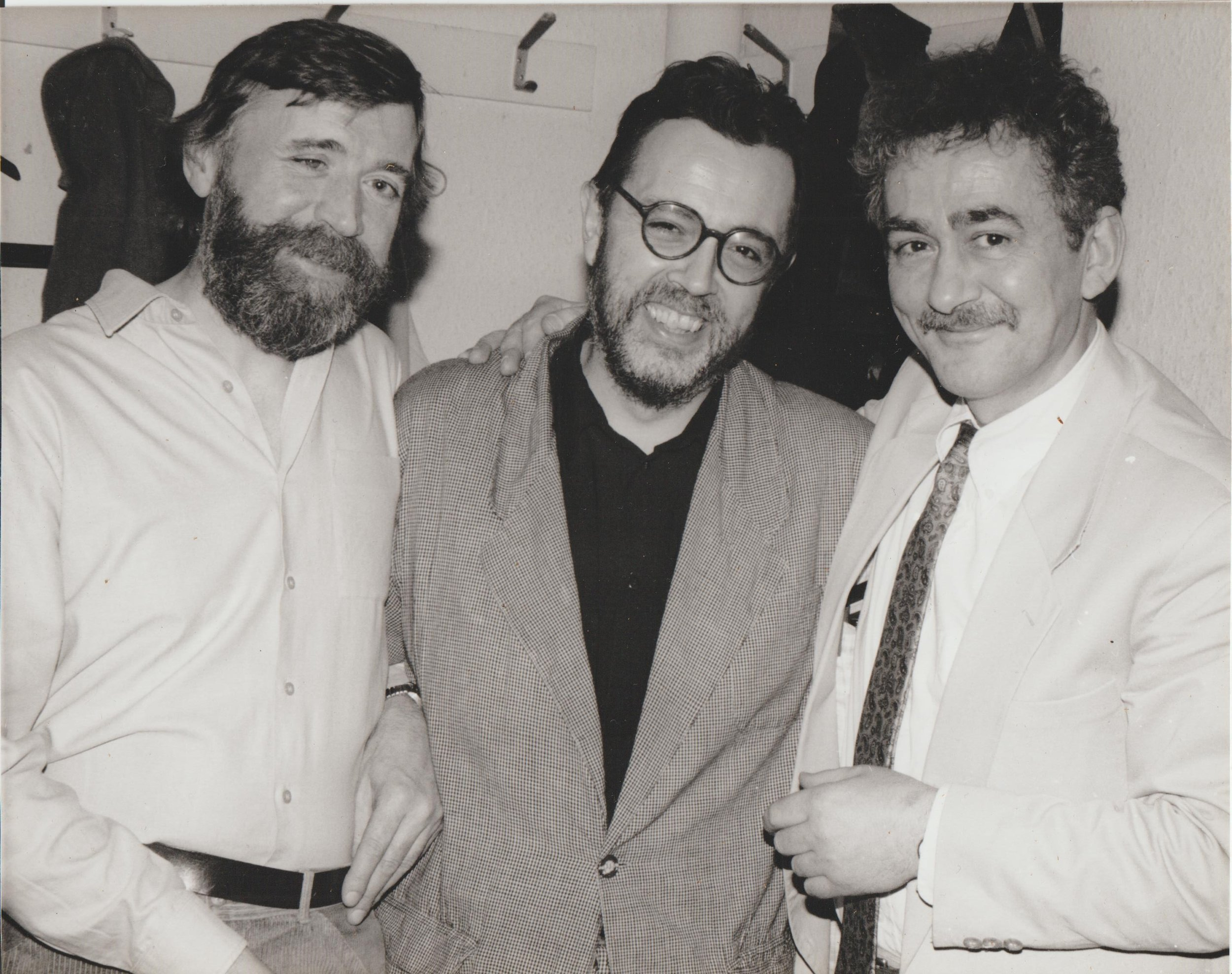 Ron Mathewson, Spike Wells and Mick Pyne downstairs at Ronnie Scott's January 1990 during our week's trio engagement
