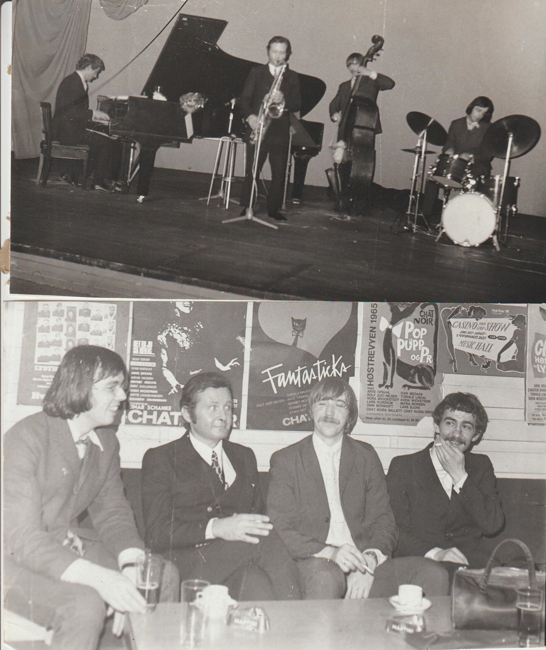 The trio with Stan Getz touring Scandinavia February 1970