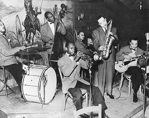 The new Lester Young group with Clyde Hart February 1941