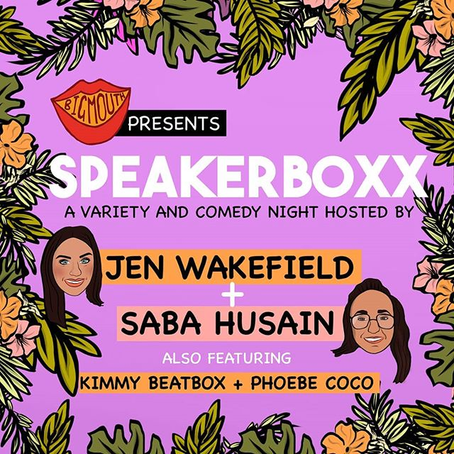 A variety comedy night hosted by musical comedians Jen Wakefied & Saba Husain, featuring a stellar line up of fantastic acts -  we're talkin' the best of sketch, stand up, clowning, character comedy, and more!  At Speakerboxx we encourage and invite collaboration and experimentation in an intoxicating botanical setting.  The twist? What better way to begin an evening of experimental entertainment than with a specially crafted cocktail and canape reception.