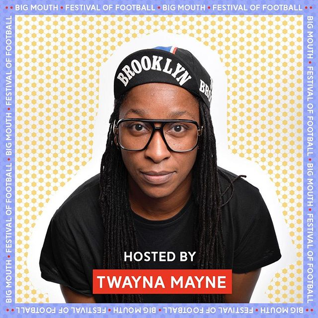 So excited to house Twayna Mayne's hosting debut! Get down to @thebookclubec2 on Thursday 20th June. £££ to @aktcharity & @footballbeyondborders as part of @thefestivaloffootball. . • • • • • • • • • • • • • • • • • • • • • • • • . TWAYNA MAYNE  Twayna Mayne's distinctive style paired with her deliciously honest material has taken her to the finals of numerous competitions including the prestigious New Act of the Year & Up the Creek's One to Watch. . . . In 2016, she became a Leicester Mercury Nominee and starred in the prestigious AAA show at the Edinburgh Fringe. Her highly anticipated debut show Black Girl achieved excellent critical acclaim at the Edinburgh Fringe 2017. . . . Her extraordinary back story paired with her unique pop culture filtered execution singled her out as a newcomer to watch. . . . Twayna has recently appeared on Radio 4 Extra Best of the Edinburgh Fringe, BBC Scotland at the Fringe and BBC Radio 4's Loose Ends. She has also had her own BBC Radio 4 Series commissioned, coming in 2019. . . . #bigmouth #fesitvaloffootball #femalecomedy #womenincomedy #womensfootball #womensworldcup #football #comedy #londoncomedy #bigmouthlondon #twaynamayne