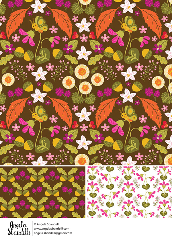 Autumn pattern by Angela Sbandelli