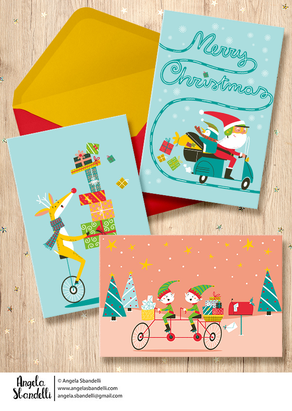 Santa Claus is coming to town cards