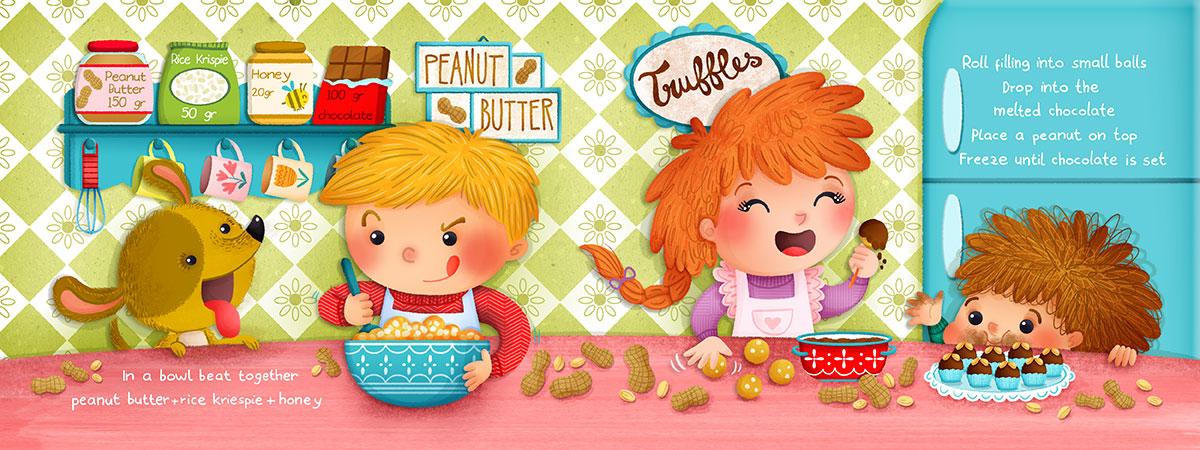 Peanut Butter Truffles Illustrated recipe by Angela Sbandelli