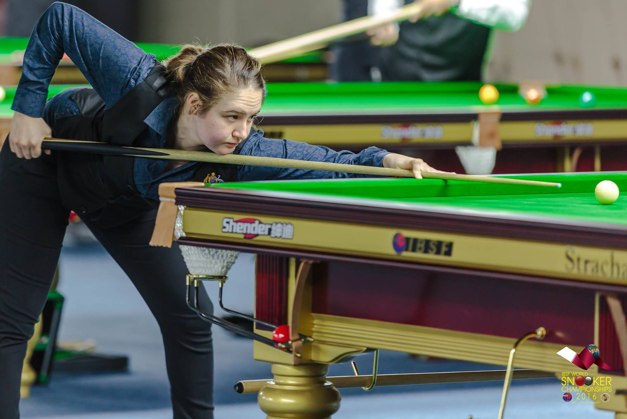 Top ladies snooker champion jessica woods at the Ibsf world snooker