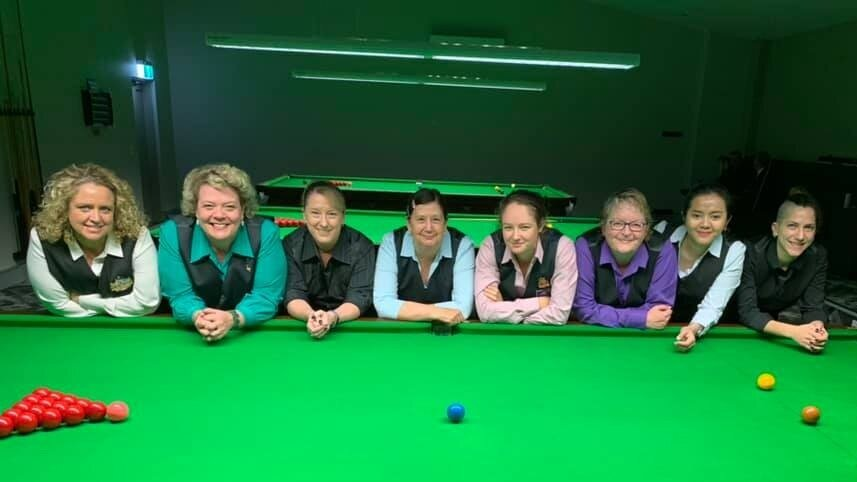 2019 nsw state women's snooker championship - quarter finalists: Carlie tait, rhonda knight, christine firth, shirley ryan, jessica woods, annette clifford, kenny tirza, joey tohme