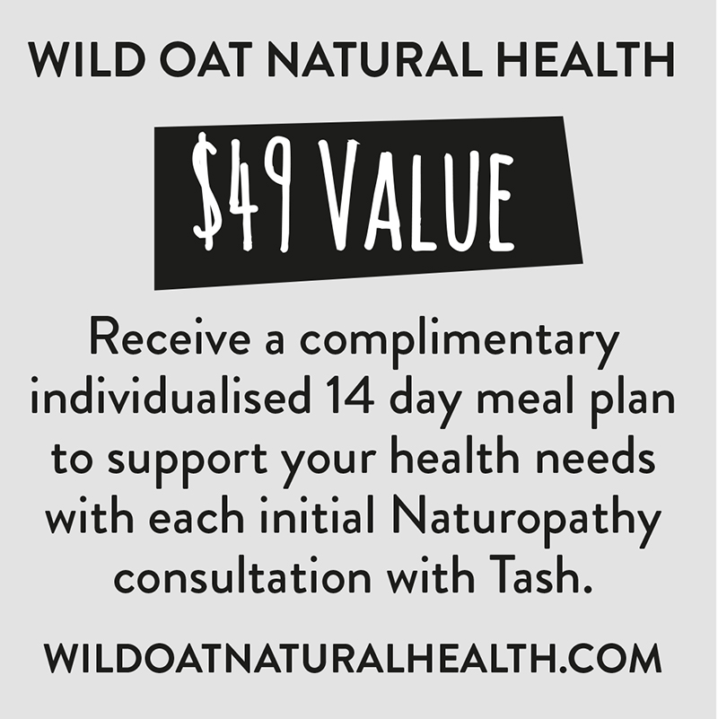 offer T&Cs - this is a Single use voucher for new clients and valid until the OFFER'S EXPIRY DATE SPECIFIED ON THE voucher CARD. Present the card at Time of naturopathy consultation with tash. One complimentary 14 Day Meal Plan per person.