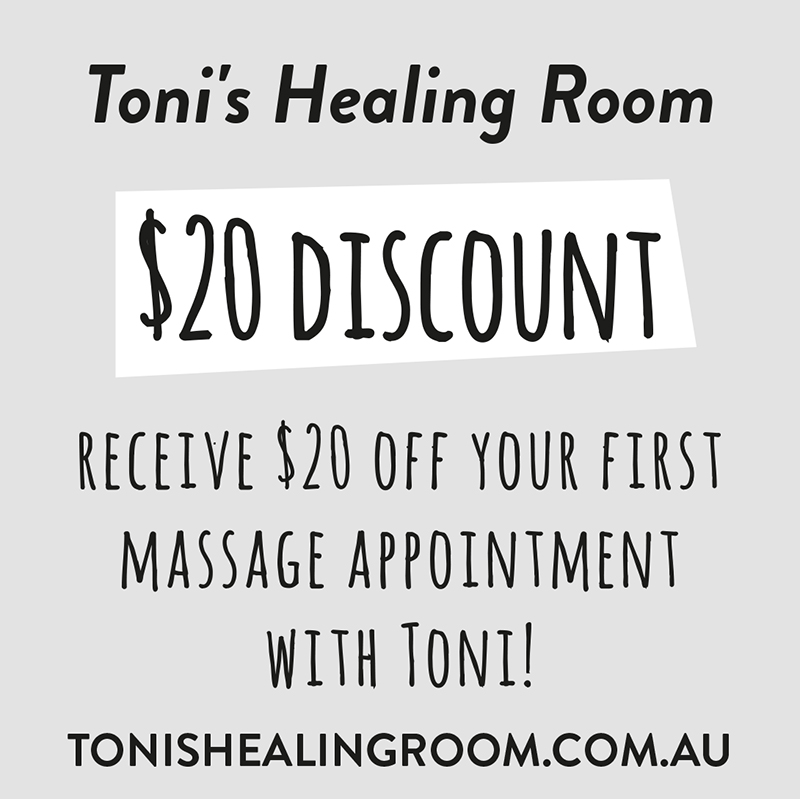 $20 discount T&cs - this is a Single use voucher, one per person & valid until the OFFER'S EXPIRY DATE SPECIFIED ON THE voucher CARD. Present the card at Time of massage appointment.
