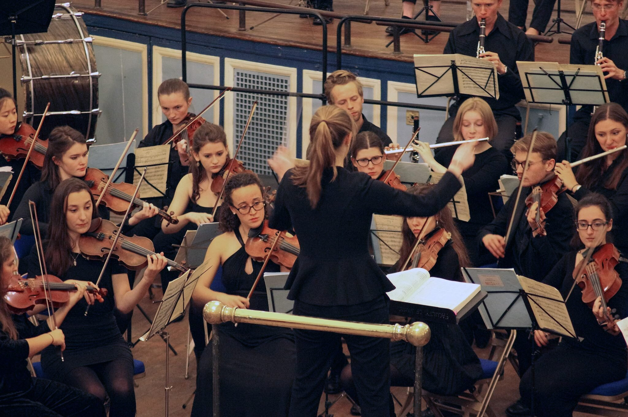 Performing Tchaikovsky's Symphony No. 4 in the Oxford Town Hall. Image credit - Cosima Gillhammer