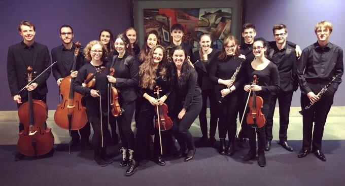 Student musicians on closing night of  Eugene Onegin