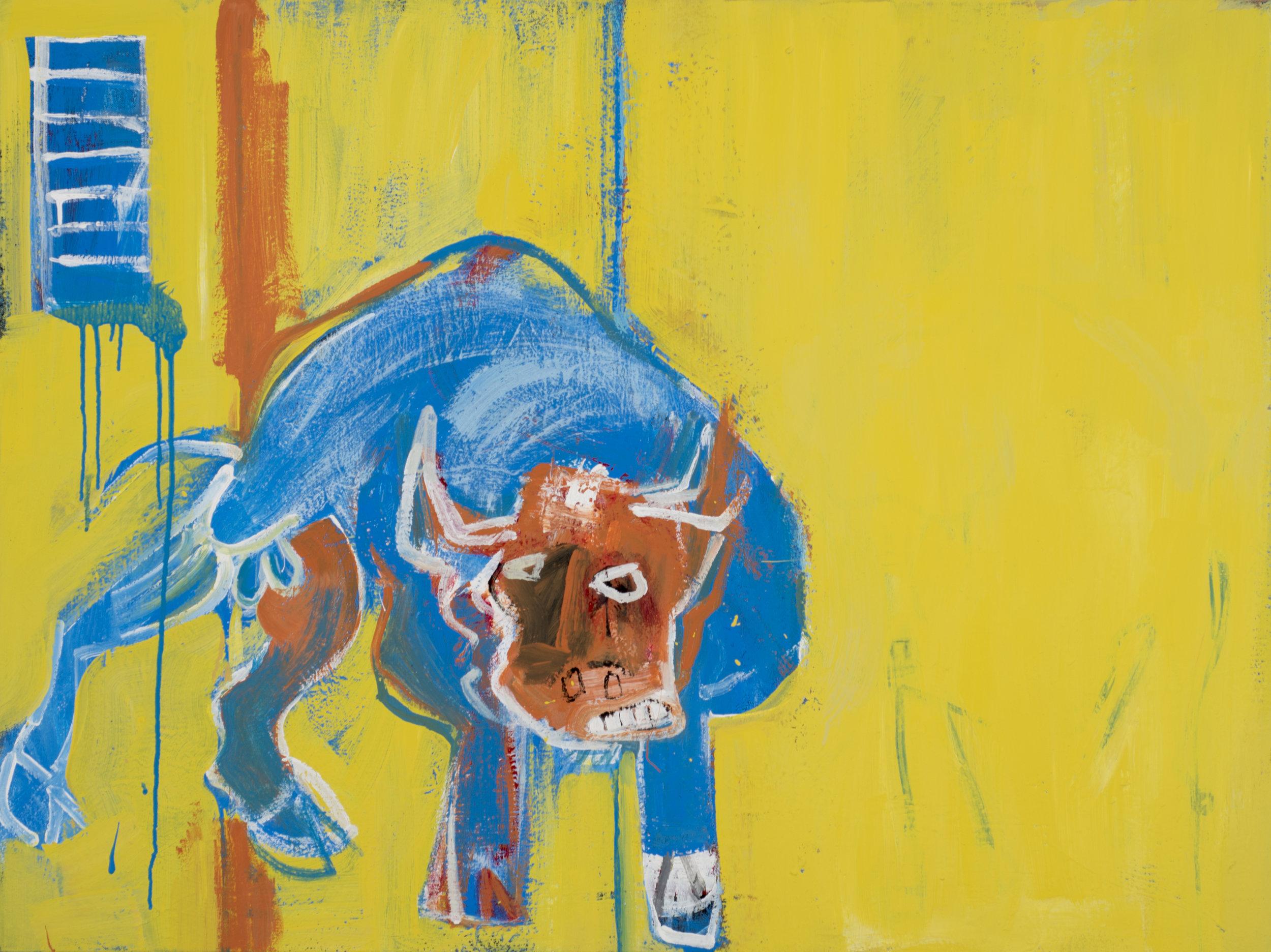Untitled (Blue Bull) , 2018.
