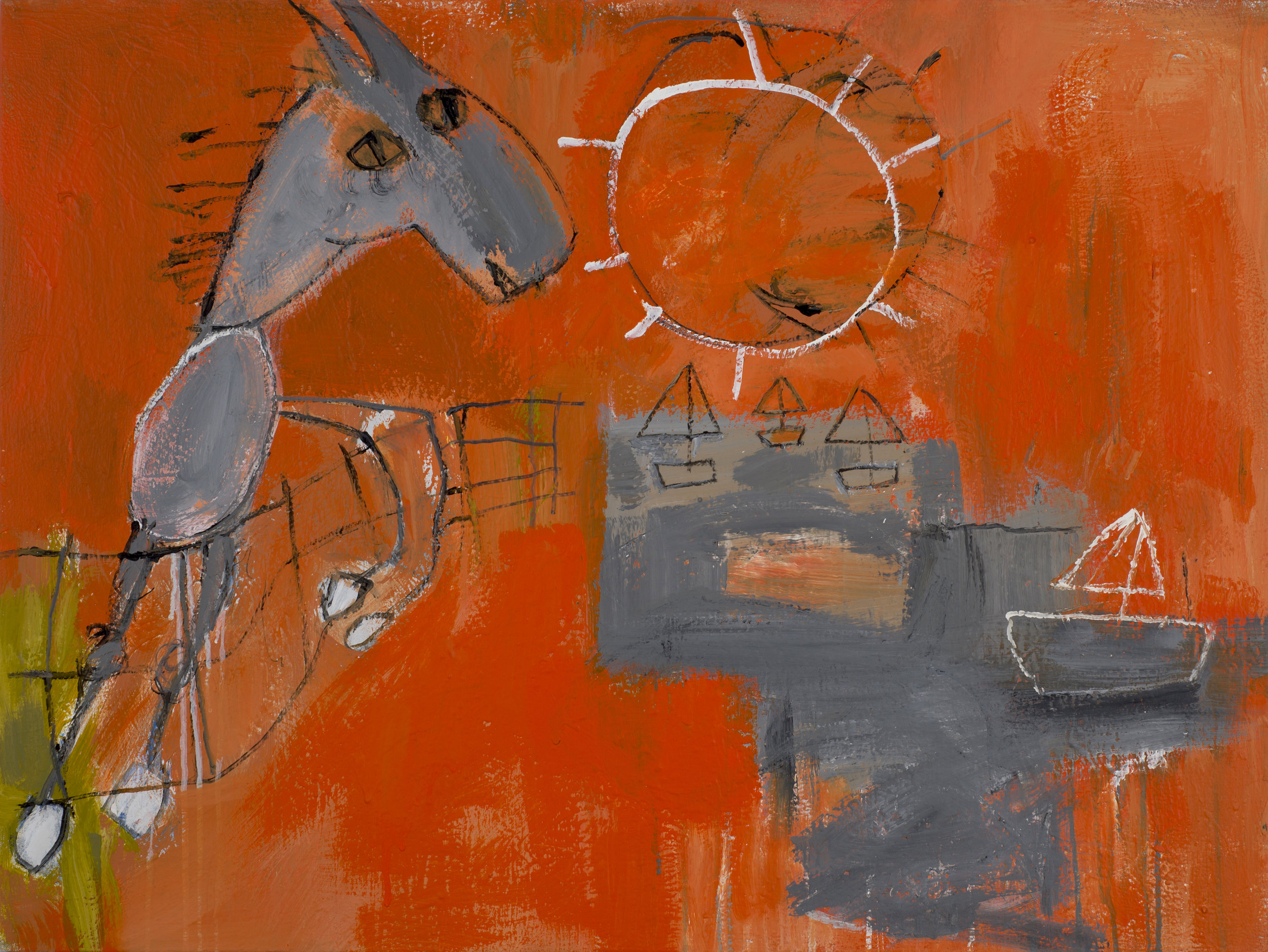 Untitled (Horse and Fence) , 2018.