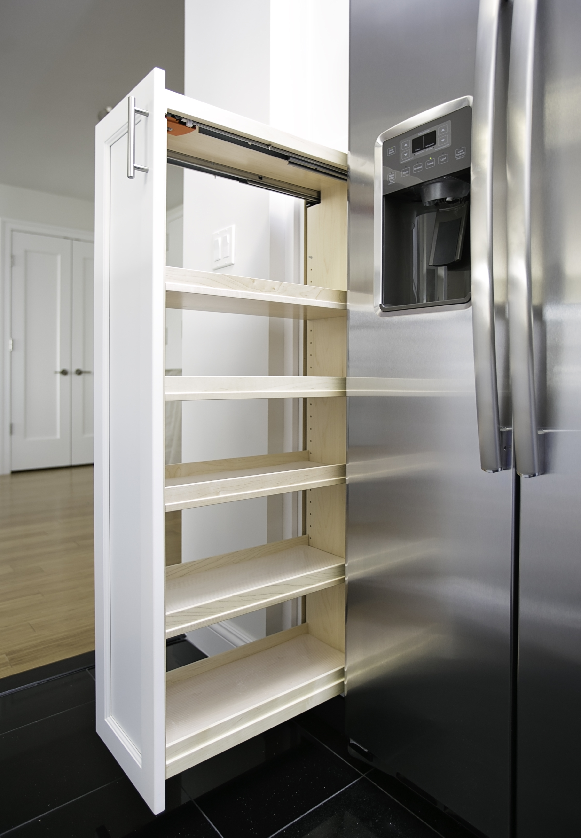 Increase Storage - Conveniently bring kitchen staples right to you.
