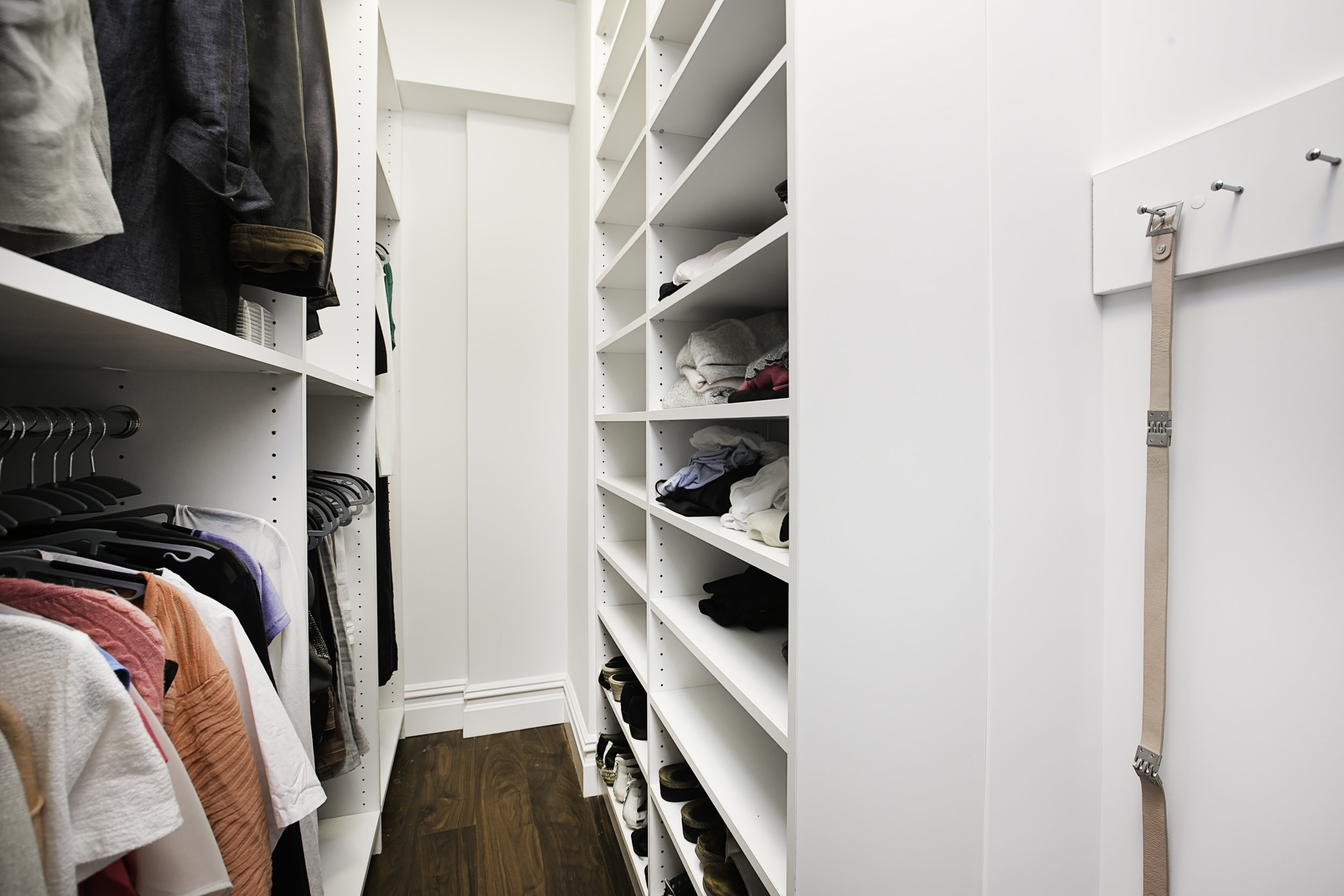 You are in charge - Each closet section can be tailored to exactly how you need it.