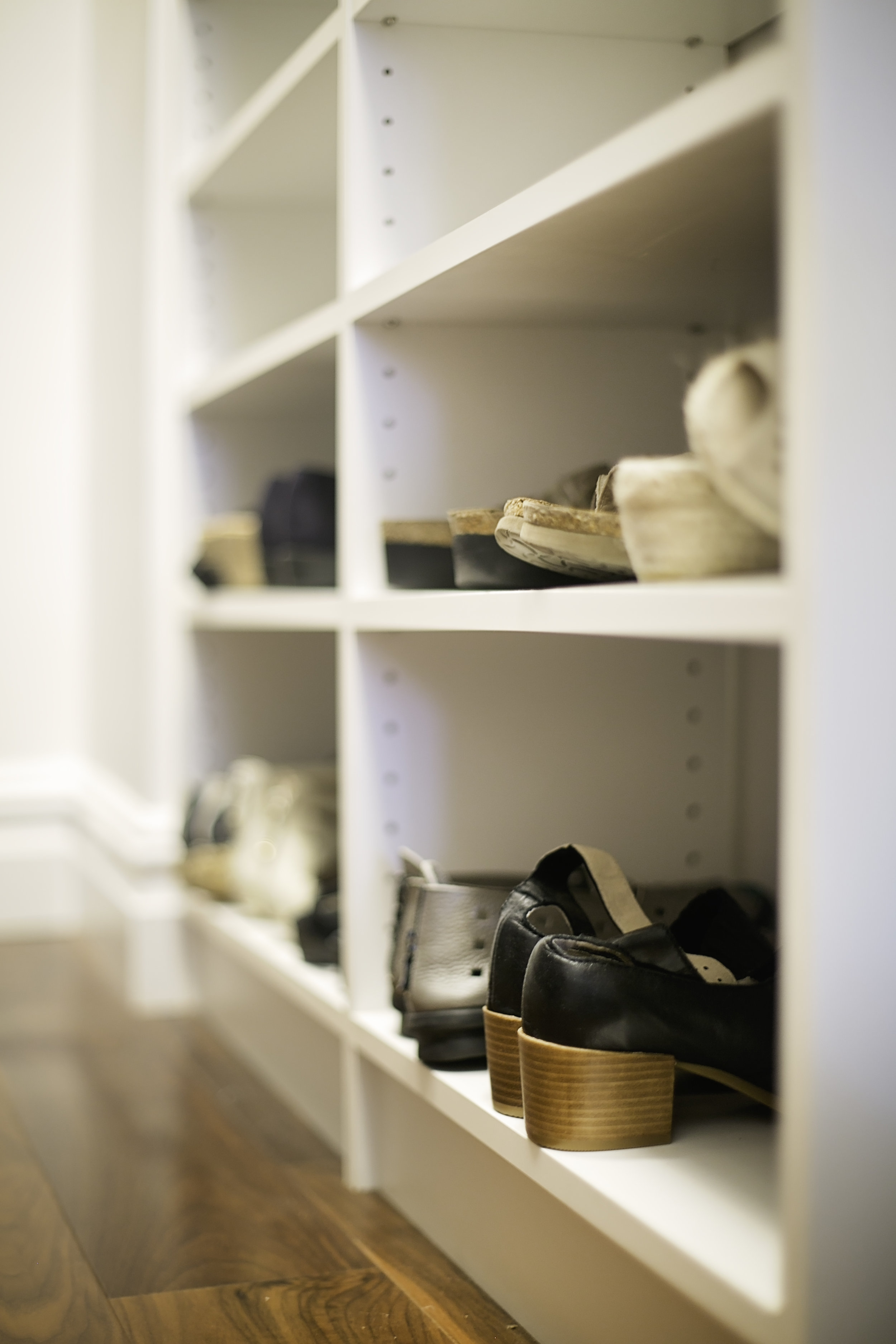 Shoe Storage  - Know where your shoes are right when you need them.