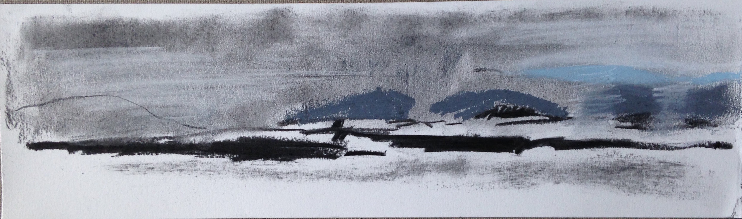 Snow storm over Rousay I