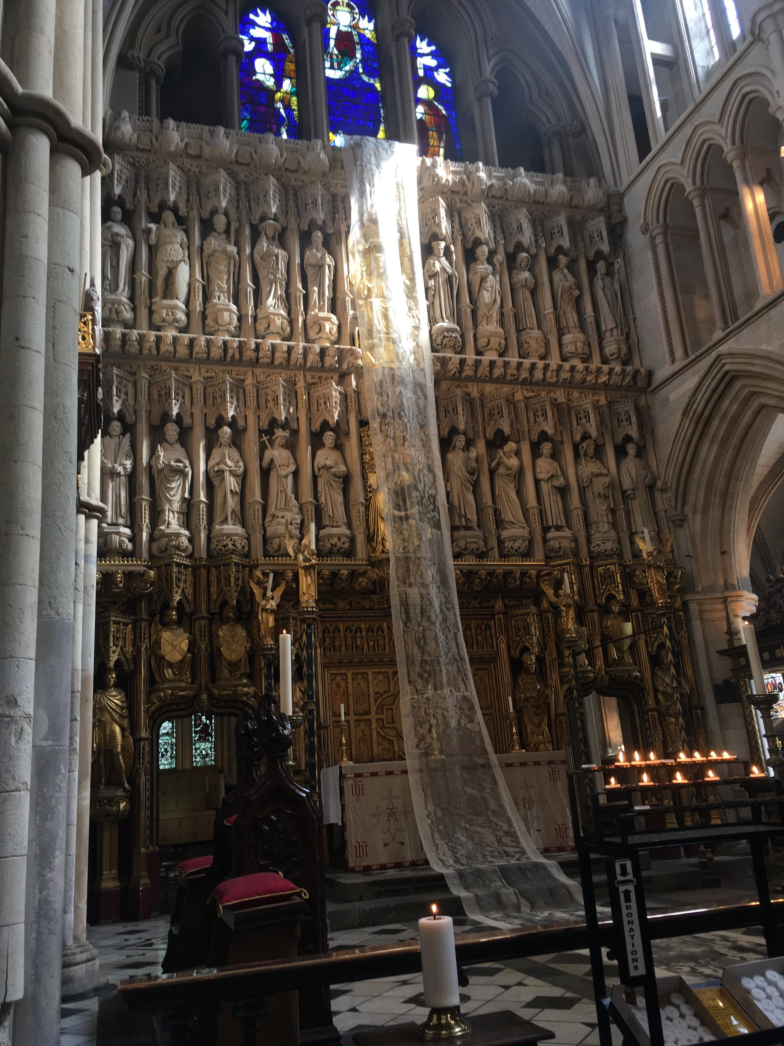Footfall. Alison Clark. Lent Art Installation 2019 Southwark Cathedral Photo credit: Alison Clark