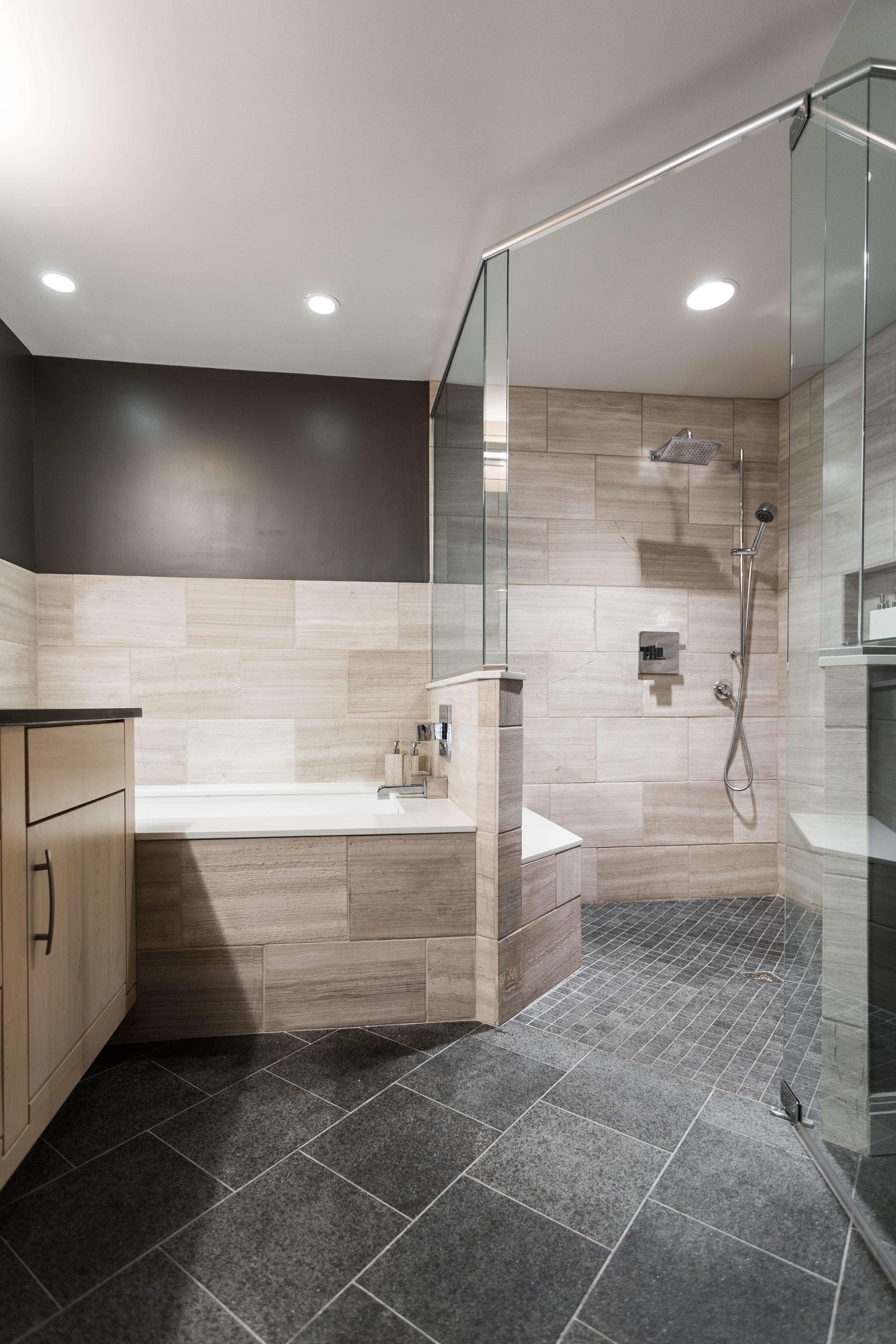 Modern and masculine - Bathroom Remodel