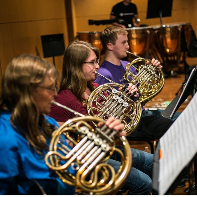 """This weekend's performance is all about classical repertoire! On the program is """"Elsa's Procession to the Cathedral"""" from Wagner's opera """"Lohengrin."""" Here's a sneak peek about the piece! See you Sunday at 7pm! http://ow.ly/i54C30nrjfc  Richard Wagner's opera """"Lohengrin"""" was finished in 1848.  According to Germanic Arthurian legend, Lohengrin is a knight of the Holy Grail sent in a boat pulled by swans to rescue a maiden, Elsa, who can never know his true identity. """"Elsa's Procession to the Cathedral"""" comes at the end of Act II, as Elsa makes her way to marry Lohengrin. The music is both expressive and expansive, culminating in a moving climax highlighted by trumpet fanfare. - #mcbe #nashville #brass #musiccity #classicalmusic #trumpet #horn #trombone #euphonium #tuba #percussion #beethoven #wagner #dukas #mussorgsky"""