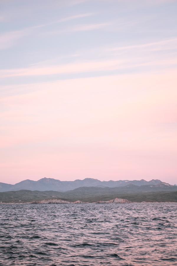 Sunset off the coast of Baja California, Mexico.