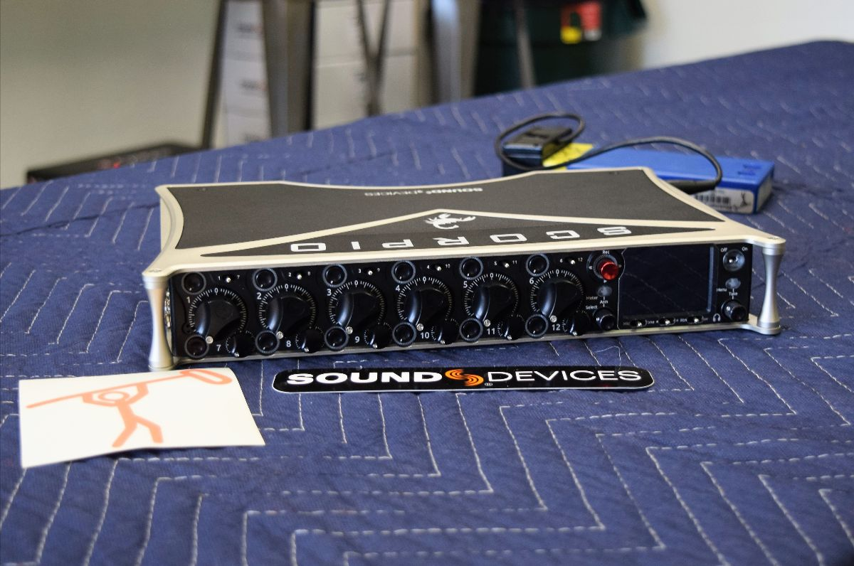 The Sound Devices Scorpio finally arrived! We have a demo unit and units for sale in the shop. Come by to check it out and ask all the questions!