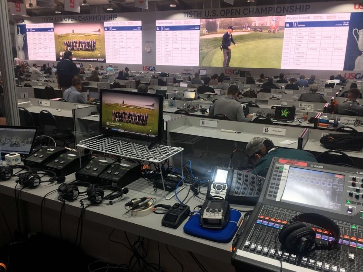 Fernando grabbed a pic of the US Open at Pebble Beach Media Center! He was there working for BBC Radio 5.