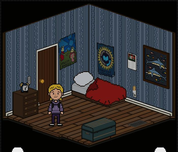 Holly's Bedroom - The room where Holly sleeps.
