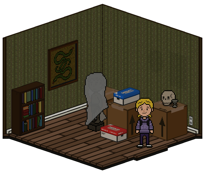 Spare Bedroom - A room used for storage.