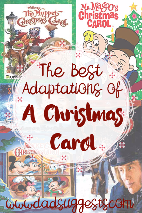 The best versions of A Christmas Carol on film. There are have been many versions of Charles Dickens' classic throughout the years - but these are the absolute best to share with your kids and family. #christmas #christmasmovies #familychristmas #achristmascarol #charlesdickens #dadsuggests