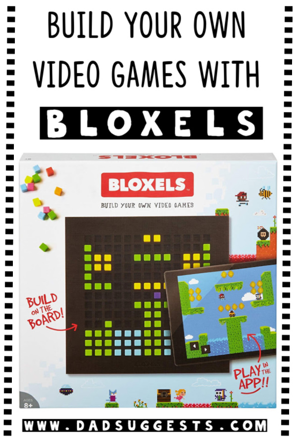 Bloxels is an imaginative combination of hands-on block building and actual video game creation. Kids can make their own video games by building them with blocks and then transfer them to a phone or tablet to actually play them. A fantastic toy for kids and families. #bloxels #videogamedesign #kidsvideogames #bestkidstoys #kidsgames #dadsuggests