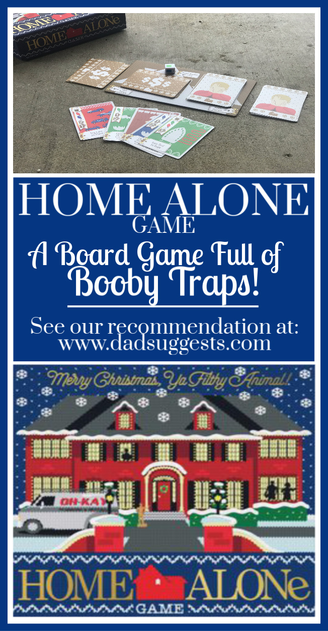 Home Alone the board game is sure to be a new family favorite for family game night. A great game for both kids and adults full of booby traps from the classic movie.  #familyboardgames #boardgames #gamenight #kidsgames #dadsuggests