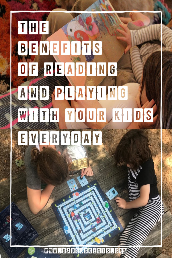 Why you should drop your phone more often and read and play with your kids. Doctors are beginning to recommend avoiding smartphones for toddlers altogether. Reading to your kids and playing board games together offers so many incredible benefits both academic and social.  #familygames #screentime #reading #parenting #dadsuggests