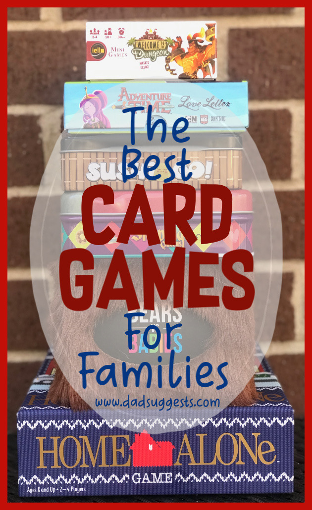 These are our favorite card games to play with the family. The best card games for kids and adults to share together on a family game night.  #kidsgames #cardgames #familygames #boardgames #dadsuggests