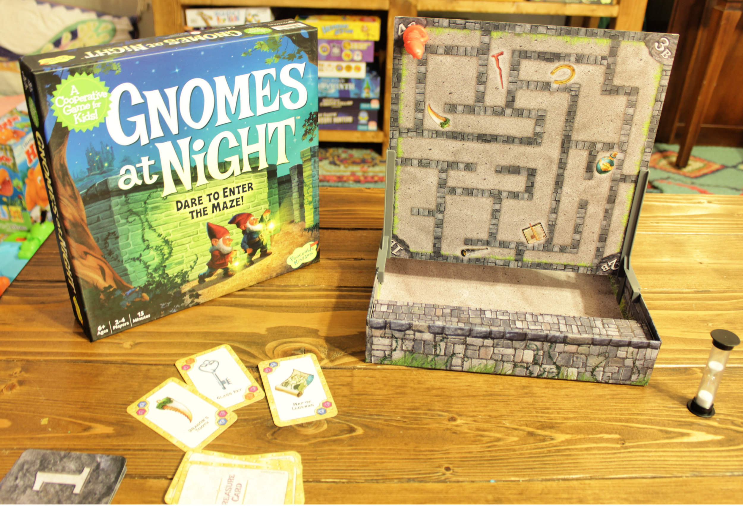 Gnomes at Night Cooperative Board Game by Peaceable Kingdom and MindWare - Family Board Games.