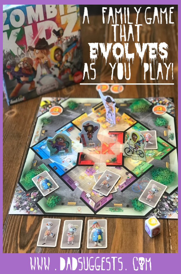Cooperative board games are perfect choices for family game night. Zombie Kidz Evolution is a cooperative kids game that actually evolves the more you play - leading to incredible replay value and engagement.  #boardgames #kidsgames #familygames #cooperativegames #familygamenight #dadsuggests