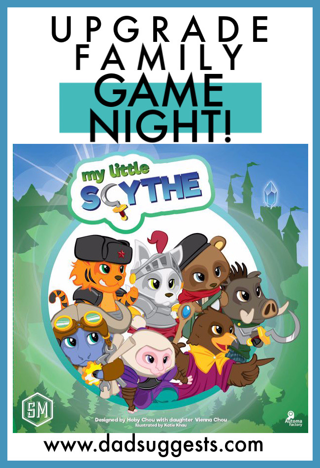 Family games can definitely have depth and strategy too. The new golden age of board games has brought us many amazing new games. My Little Scythe is an incredibly vibrant and imaginative game made by a father and his 6-year-old daughter, and it's taken family game night to the next level. #boardgames #mylittlescythe #familygames #playwithyourkids #stonemaiergames #tabletopgames #familygamenight #dadsuggests