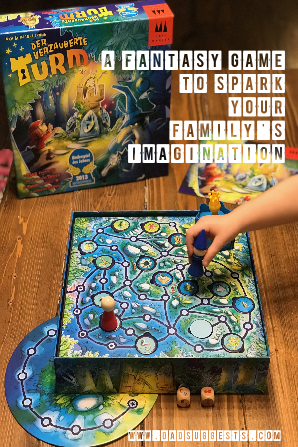 Fill your family game night with imagination and creativity. The Enchanted Tower is a fantastic family board game with a great fantasy theme and truly original mechanics. The whole family is in love. #boardgames #kidsgames #familygames #gamenight #dadsuggests