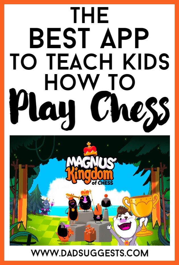 Magnus' Kingdom of Chess  is the best app for introducing your kids to the basics of chess. Your children will internalize how all of the pieces move simply by playing this engaging RPG. By the end of the game they'll have practiced their checkmates and be ready for a complete game. #chess #chessforkids #teachingchess #kidsgames #kidsapps #bestappsforkids #familygames #dadsuggests