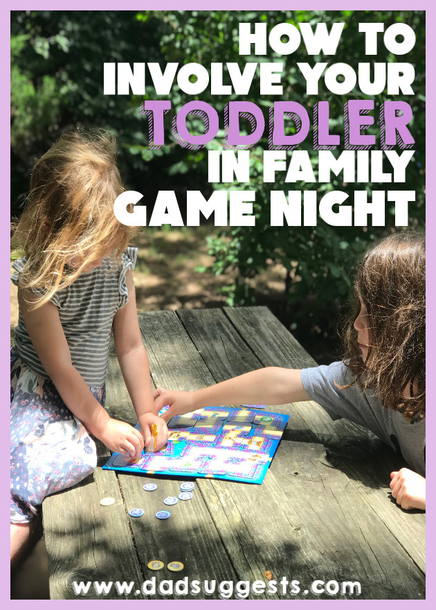 How to Involve Your Toddler In Family Game Night. Make your toddler feel like a real part of the team. Use these ideas to include even your littlest child in family board games. Bond with the entire family - and reap the benefits that board games can provide from an early age.  #familygamenight #kidsboardgames #familygames #familyboardgames #toddlers #parenting #dadsuggests