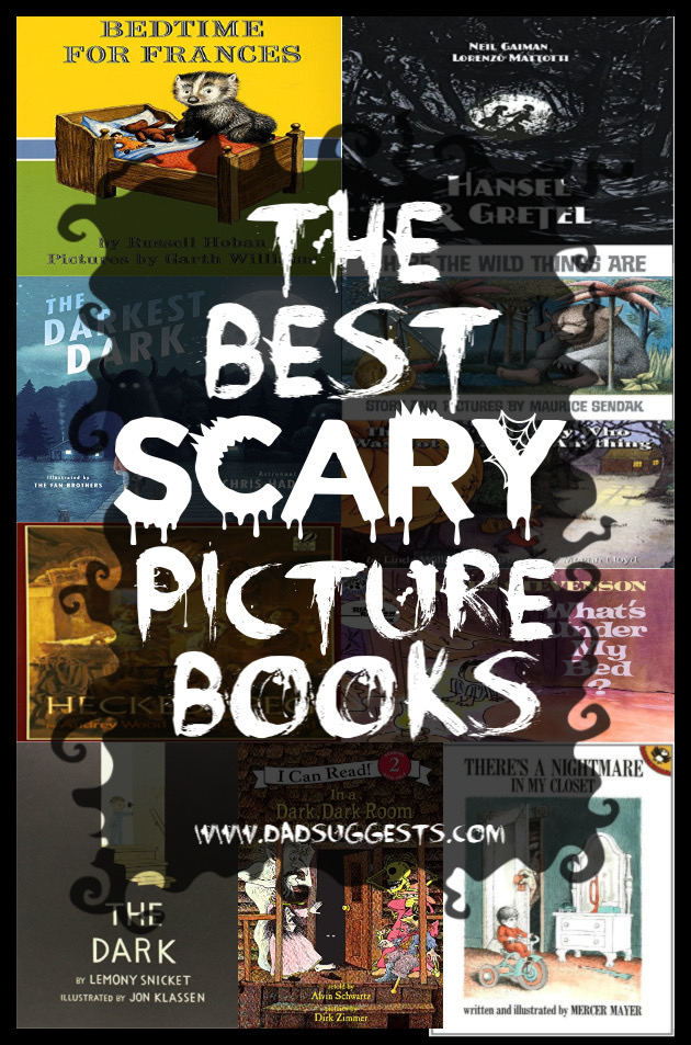 These are the scariest picture books for kids. If you and your children actually enjoy being scared a little bit, you need to check out all of these legitimately spooky stories. Enjoy the Top 13 Scary Picture Books for Kids. #scarybooks #bestkidsbooks #spookystories #picturebooks #kidsbooks #scarystories #dadsuggests
