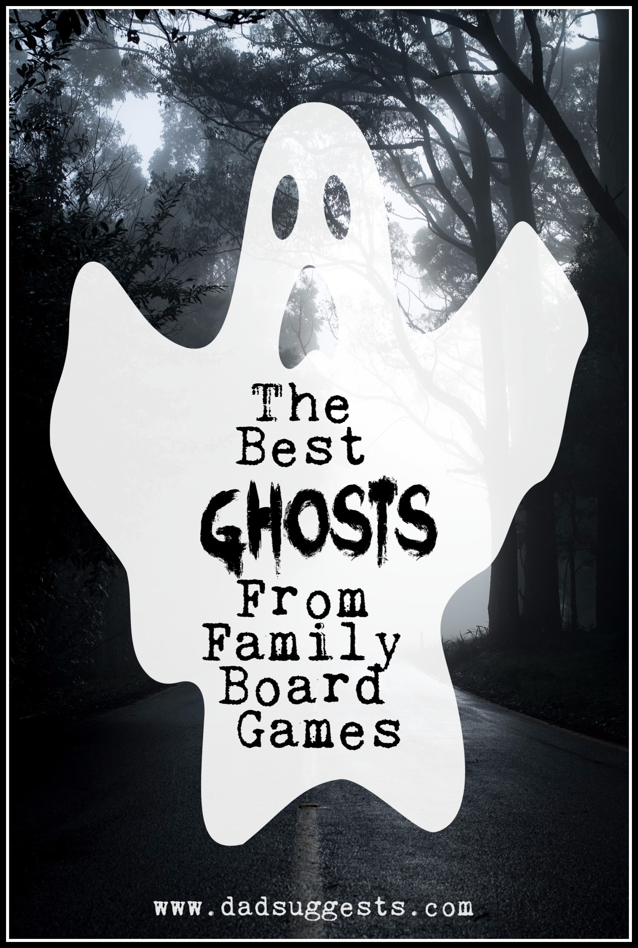 These are the best ghosts from family board games. Do you like playing spooky-themed board games around Halloween? Make sure to check out these family games with ghosts and haunted houses. #halloweengames #spookygames #familyhalloween #familygamenight #kidsgames #boardgames #familyboardgames #dadsuggests