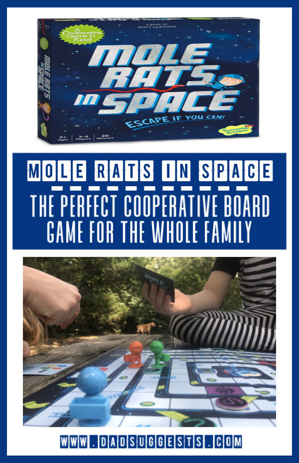 Mole Rats in Space is a challenging, cooperative family board game from Peaceable Kingdom. It's full of imagination and the opportunity for some creative role playing during your next family game night. #familyboardgames #cooperativegames #kidsgames #familygamenight #peaceablekingdom #dadsuggests