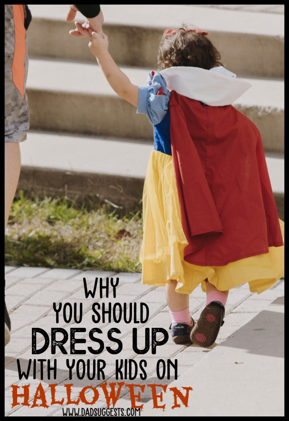 Parents should definitely dress up with their young kids on Halloween. The potential consequences of sitting out the spooky festivities simply pose too big of a threat to those precious childhood imaginations. So put on those silly costumes, adults! #familyhalloween #halloween #halloweencostumes #parenting #imagination #dadsuggests