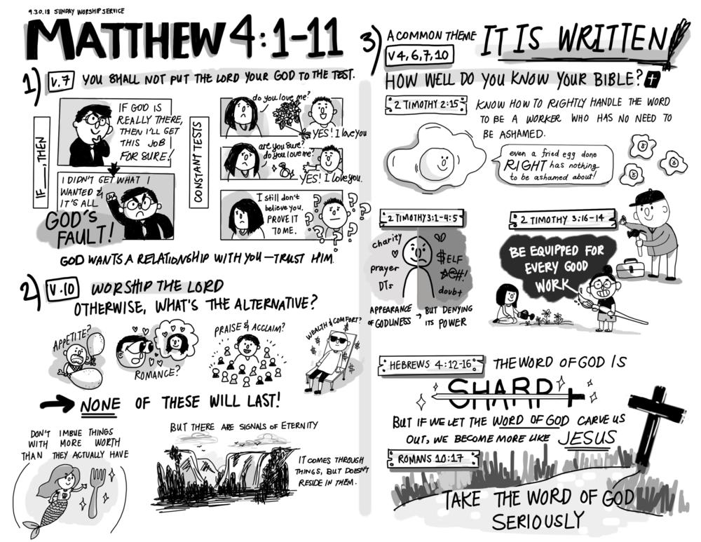 Sept 30 // Temptation of Jesus Pt. 2Oct 21 // Promise, Problem, Provision, Proclamation