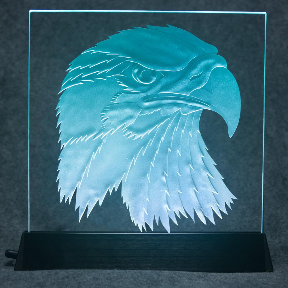 Stage-Carved Eagle