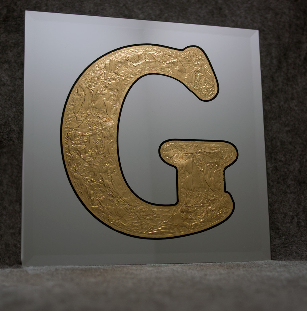 Glue Chipped Gilded Mirror